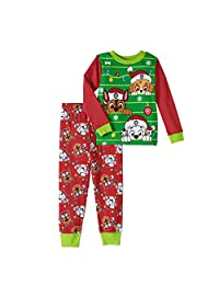 Nickelodeon Paw Patrol Little Boys Girls Toddler Christmas Pajama Set