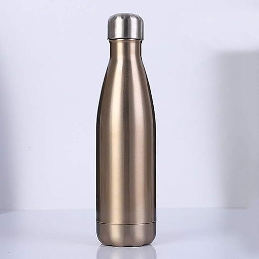 ZXZXZX Botella Agua Acero Inoxidable, Aislamiento al vacío, 1000ml/ 1500ml/ 1800ml a Prueba de Fugas, para Mantener el frío y Bebidas Calientes, para ...
