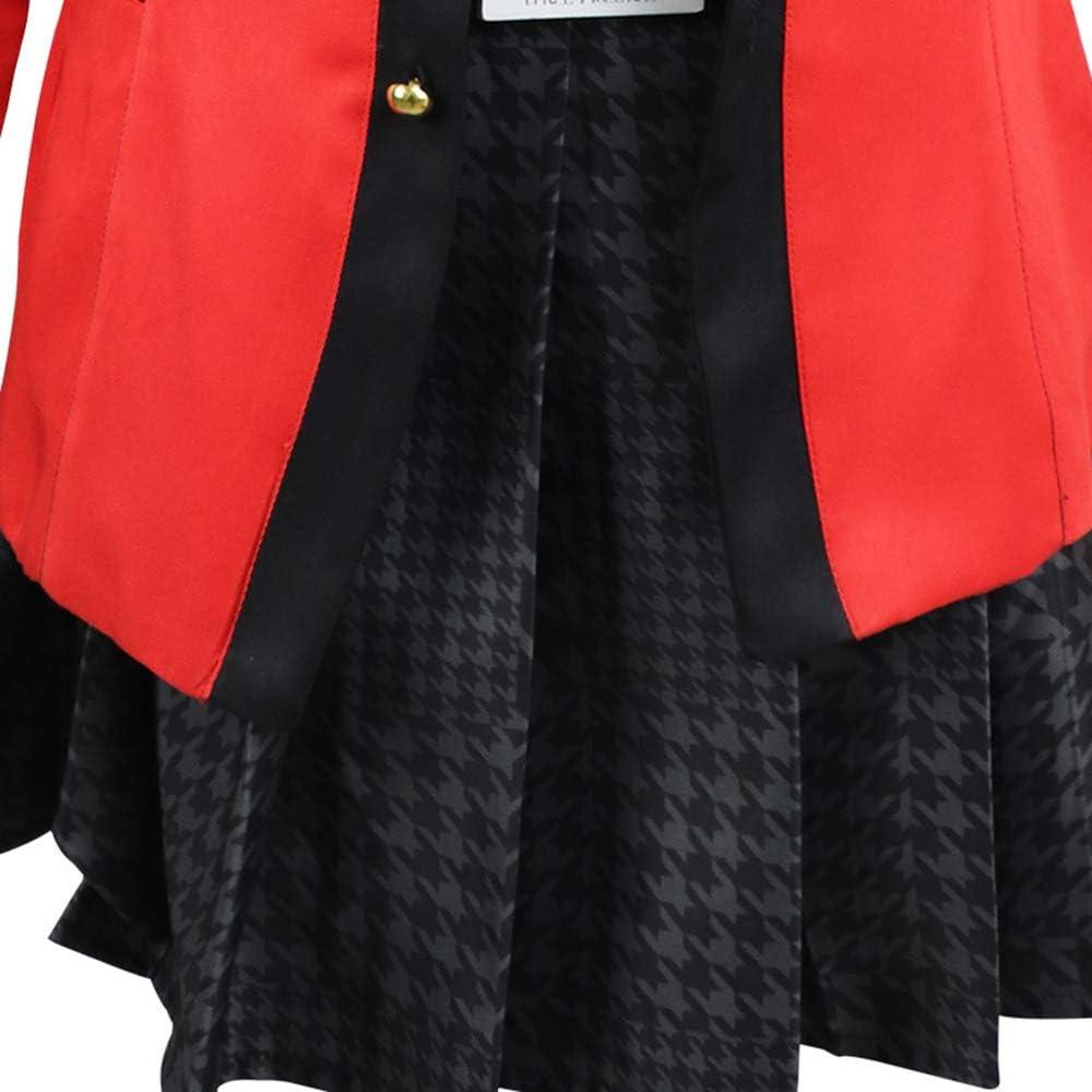 Shensan Yumeko Jabami Cosplay Costume Outfit e Set Parrucca Anime Kakegurui Costumi Yumeko Cosplay Parrucca Uniforme