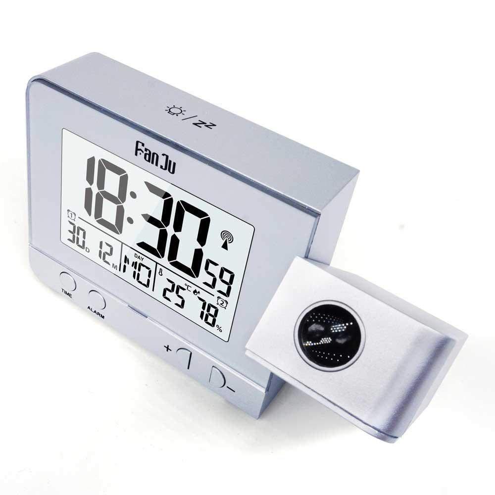 avec Hygrom/ètre pour Thermom/ètre Int/érieur Double R/éveil pour Les Chambres /à Coucher Kaever R/éveil /à Projection Horloge Num/érique De Projection Chargeur USB
