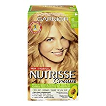 Garnier Nutrisse Cream Hair Color in 83 Natural Medium Golden Blonde. Grey Hair Cover Up, Hair Dye with Natural Conditioning Oils