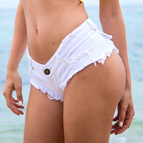 Moda Jeans Yuanu Sexy Bar Bianco Pants Straight Bassa Donna Spiaggia Vita Pantaloncini Confortevole Estate Nightclub Hot TSq1zwnPpT