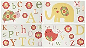 CoCo & Company Removable Wall Appliques, Alphabet Sweeties (Discontinued by Manufacturer)