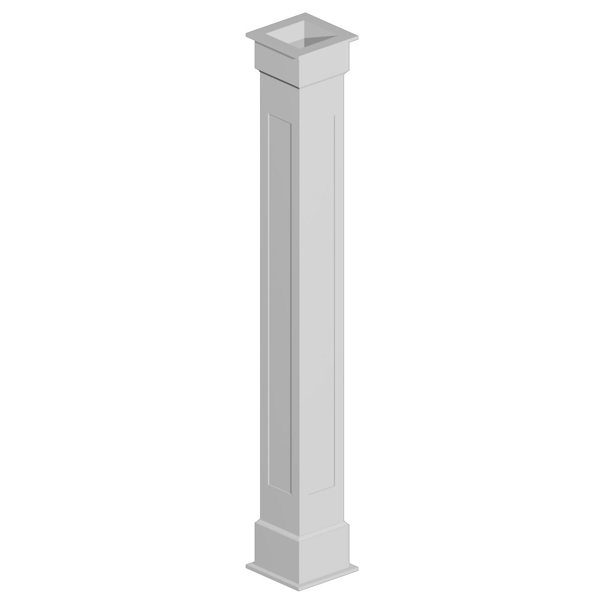 Fypon CWKT86136 10'' Width x 108'' Height Non-Tapered Recessed Panel Column Wrap
