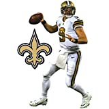 """Drew Brees Mini FATHEAD New Orleans Saints Official NFL Vinyl Wall Graphic 7"""" INCH"""
