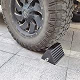 ROBLOCK 2 Pack Wheel Chocks Rubber Heavy Duty Black