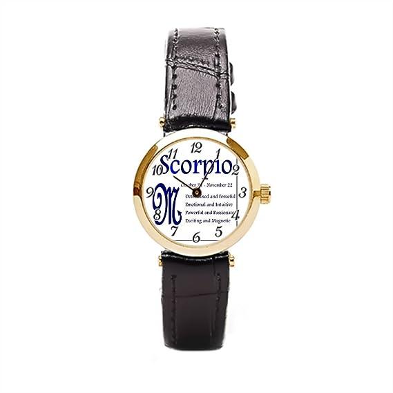 Ser un hombre mujer muñeca reloj Zodiac Astrología Scorpio reloj de pulsera bandas: Amazon.es: Relojes