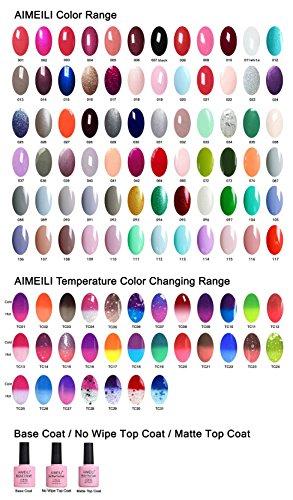 AIMEILI Soak Of UV LED Gel Nail Polish Colour Set - Pick Any