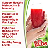 Ruby Reds | Delicious Reds Powder Fruit & Vegetable Supplement with Potent Vitamins, Minerals, Enzymes, Herbs, Nutrients and Probiotics for Overall Health 11