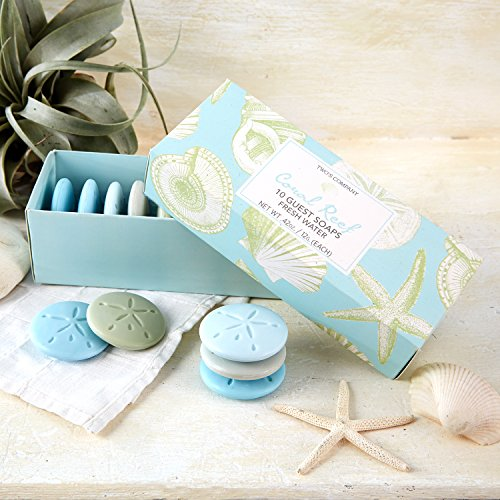 Freshwater Scented Soaps Set of 10 Gift Boxed 50723 Twos Company