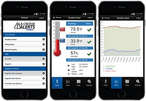 La Crosse Technology La Crosse Alerts 926-25102-PET Aquarium Monitoring System with Wet Probe for Early Warning Alerts & Wireless Mobility