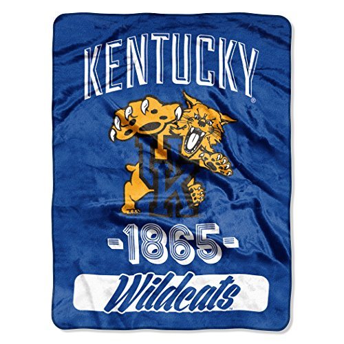 The Northwest Company Officially Licensed NCAA Kentucky Wildcats Varsity Micro-Raschel Throw Blanket, Blue, 46