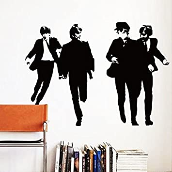Amazon.com : The Beatles Wall Decal Lennon Star Rock Music Band ...