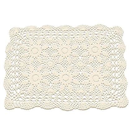 Amazon Gracebuy 16x23 Inch Rectangle Beige Handmade Cotton