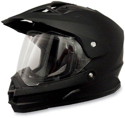 AFX FX-39 Unisex-Adult Full-Face-Helmet-Style Dual Sport Helmet (Flat Black, Small)