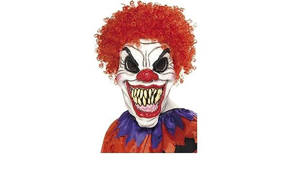 Amakando Careta arlequín Malo Máscara Payaso terrorífico Mascarilla Completo Clown Asesino Complemento Fiesta de Terror Bufón de Terror Antifaz Accesorio ...