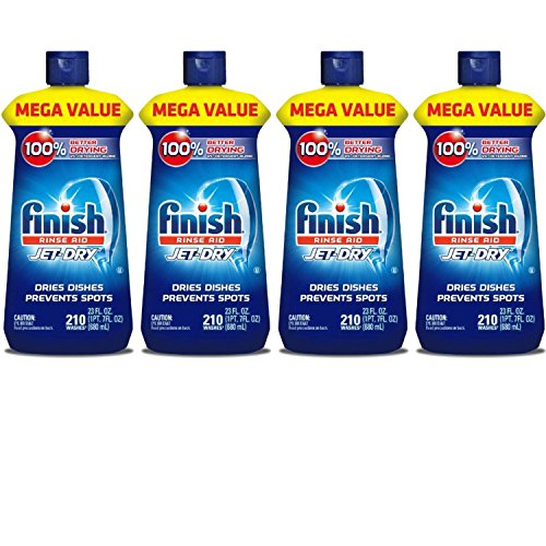 Finish Jet-Dry Rinse Aid, 23oz, Dishwasher Rinse Agent & Drying Agent - 4-Pack by Finìsh