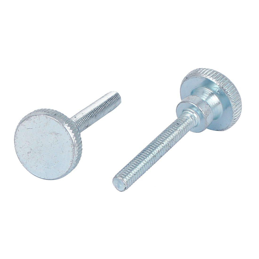 10 piezas del modelo M3/x 20/mm Tornillo de ajuste de mano de acero de carbono por Sourcingmap. tornillo moleteado de cabeza plana
