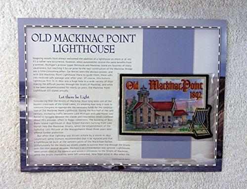 Mackinac Point Lighthouse - Old Mackinac Point Lighthouse - Mackinaw City, Michigan - Patch & Statistics Card - Willabee & Ward (2002)