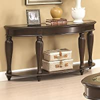 Coaster 703849 Home Furnishings Sofa Table, Dark Merlot