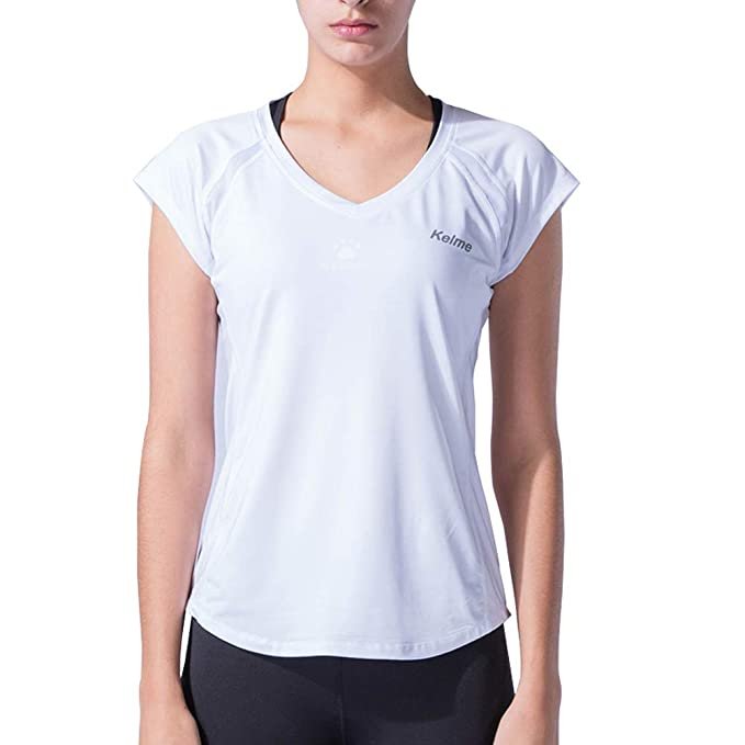 KELME Womens Yoga Short Sleeve T-Shirt Running Gym Top