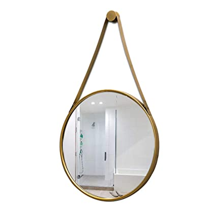 cheap for discount 8a1d3 fa916 Amazon.com: Round Bathroom Wall Hanging Mirror with Hanging ...