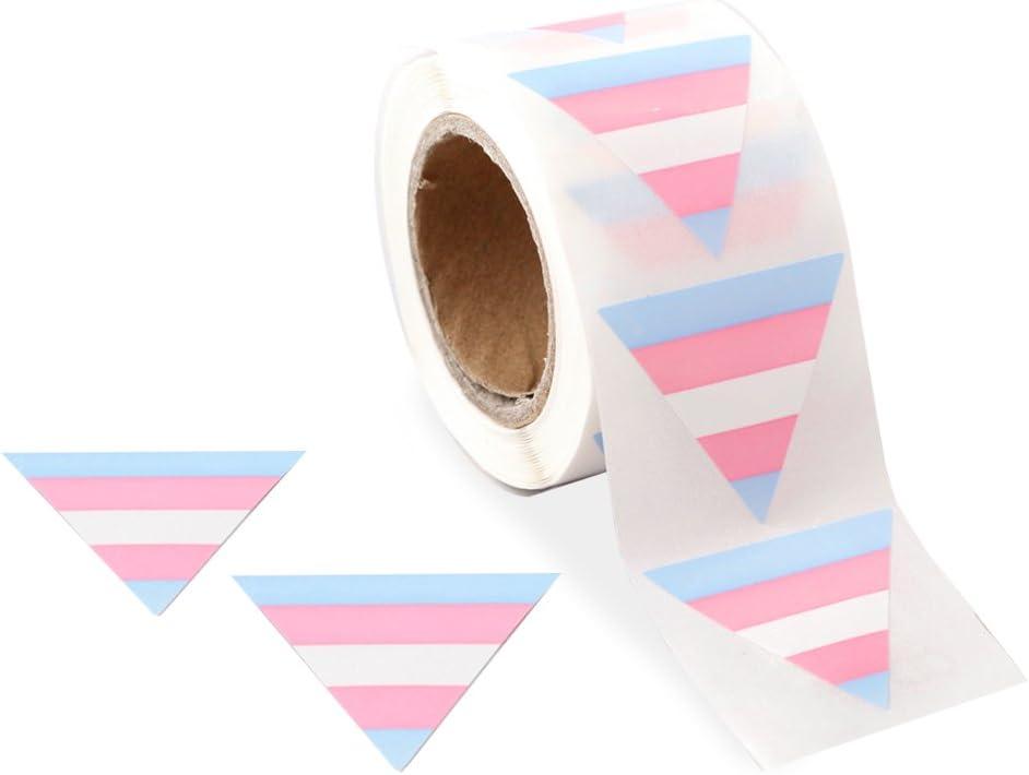 1 Roll - 250 Stickers Gay Pride Transgender Pride Triangle Stickers