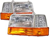 95 f250 headlight assembly - Ford F150-250/Bronco 6-Piece Headlights Set
