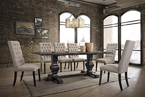 Best Master Furniture Michelle Rectangular 7 Piece Dining Set Black