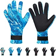 OMGear Neoprene Gloves Diving Wetsuit Gloves 3mm Flexible Thermal with Adjustable Waist Strap for Snorkeling S