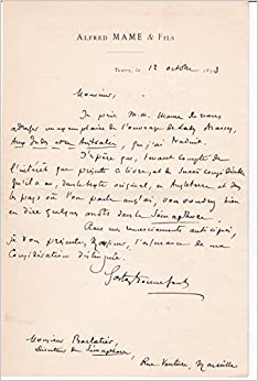 Autograph letter to paul barlatier about author gaston bonnefonts autograph letter to paul barlatier about author gaston bonnefonts french translation aux indes et en australie dans le yacht le sunbeam signed by spiritdancerdesigns Images