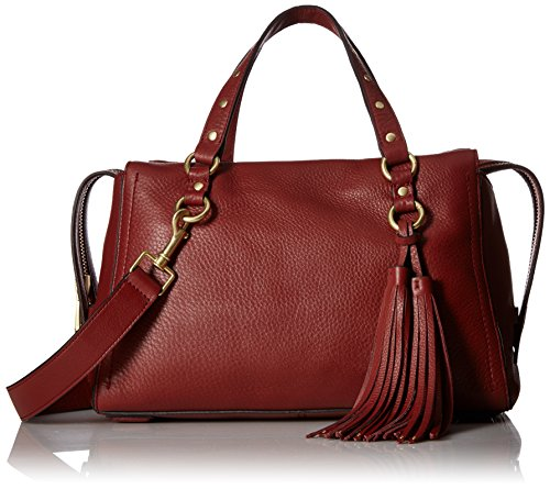 Cole Haan Cassidy Zip Satchel Leather Bag, fired -