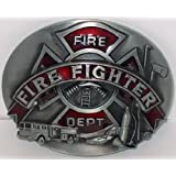 BIG LARGE OVAL FIRE DEPARTMENT FIRE FIGHTER NEW HIGH QUALITY EMS BELT BUCKLE FOR BELTS. WE SHIP FROM CORNWALL, ONTARIO, CANADA!