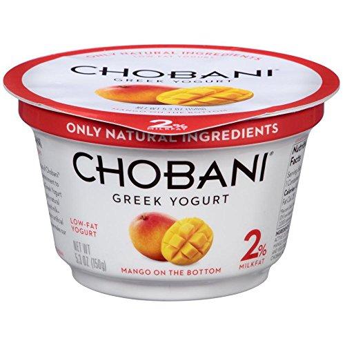 Chobani Mango on the Bottom Low Fat Greek Yogurt, 5.3 Ounce -- 12 per - Greek Chobani Yogurt