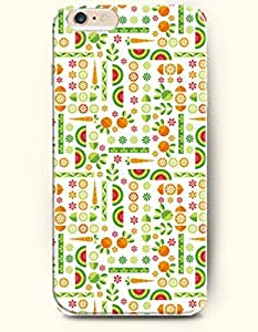 OOFIT Apple iPhone 6 Case 4.7 Inches - Carrots and Watermelon and Cute Fish Pattern