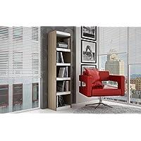 Manhattan Comfort Parana 2.0 Series 5 Shelf Bookcase in Oak White