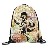 Pingpong Table Tennis Drawstring Storage Bag Sackpack Backpack For Men & Women School Travel Backpack