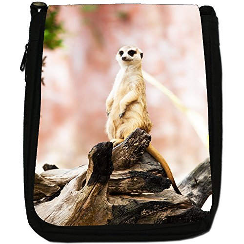 Canvas Black Shoulder With Bag Background Size Meerkat Meercat Medium Pink Wildlife Animal nIgpXX