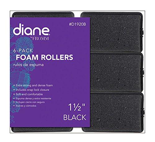 - Diane Foam Rollers, Black, 1.5