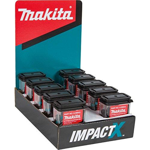 - Makita A-98843-10 Impactx 2 Phillips Drywall 1″ Insert Bit, 10 x 25 Pack, Display