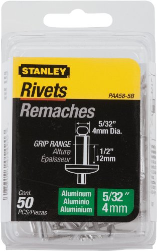Stanley Paa58-5B Aluminum Rivets, 5/32 Inch X 1/2 Inch, Pack of 50 ()