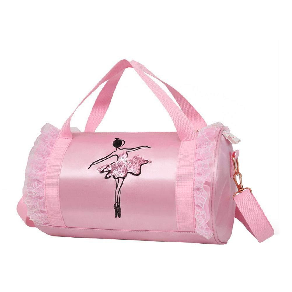 Seasons Shop Girls Dance Bag, Sacca per Bambini Borsa a Tracolla Messenger Borsa Ballet Latin Dance Tote Satchel Borse per Le Bambine Ballerina Kid Teen Ballerina Pink 1