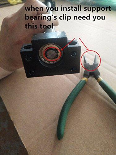 Set BK//BF12 Kit Screw Nut Housing for CNC Machine/ 1605 Ballscrew RM1605 L500mm ball screw with Ball Nuts SFU1605 500mm Ballscrew kit