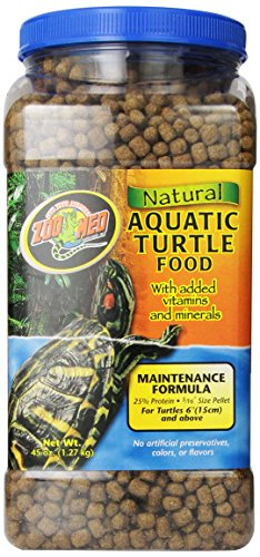 - Zoo Med Natural Aquatic Turtle Food, Maintenance Formula, 45-Ounce