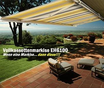 Amazon De Vollkassettenmarkise Kassettenmarkise Markise 5 0mx3 5m