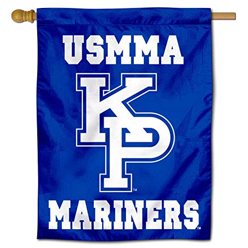 (College Flags and Banners Co. USMMA Mariners Kings Point Double Sided House Flag)