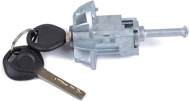 Driver//Left Door Lock Cylinder Barrel Assembly w//keys For BMW E46 3 Series 325Ci