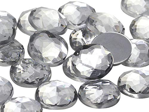 25mm Crystal H102 Flat Back Round Acrylic Jewels Pro Grade - 20 Pieces