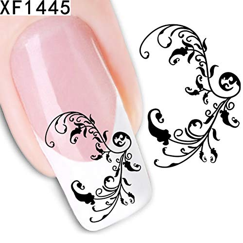 (Nail Stickers gLoaSublim,Fashion Flower Design Manicure Tips Stickers Decal DIY Nail Art Decoration Tool -)