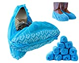 Blue Shoe Guys Premium Disposable Shoe Covers, 100 Pack | Durable, Water Resistant, Non-Slip, Heavy Duty Boot Booties | Non-Toxic, Reusable (Large Size - up to US Men 11 & US Women's 13)